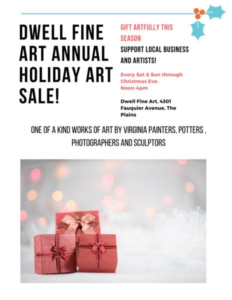 Flyer for holiday art sale l5h6ih