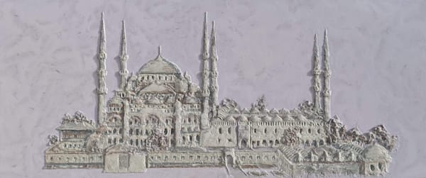 """Blue Mosque Bas Relief"" Art 