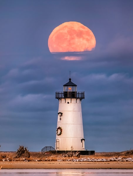 Edgartown Light Last Decade Full Moon Art | Michael Blanchard Inspirational Photography - Crossroads Gallery