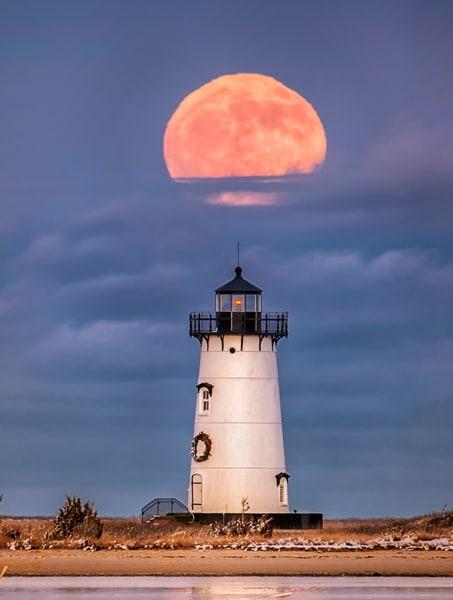 Edgartown Light Last Decade Full Moon