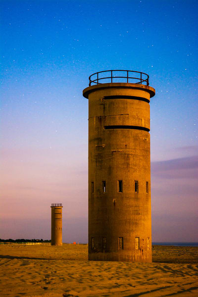 Stars over Towers on the Beach at Cape Henlopen