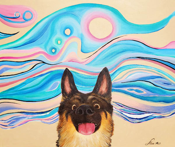German Sheppard Art | Alice MC