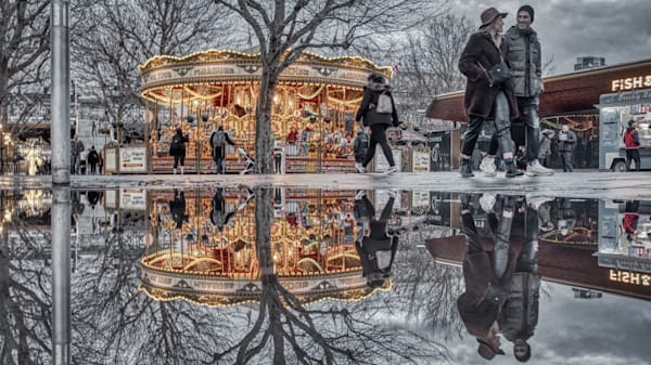 Christmas Merry Go Round Photography Art | Martin Geddes Photography