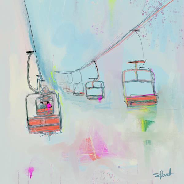 Ski Slopes Ii Art | Atelier Steph Fonteyn