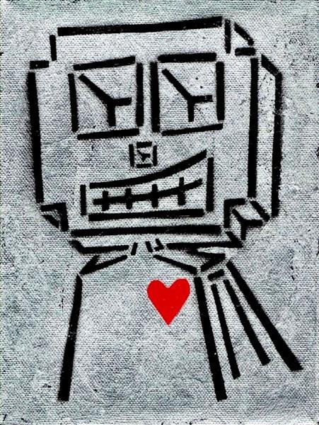 Silver Love Robot Art | Wet Paint NYC