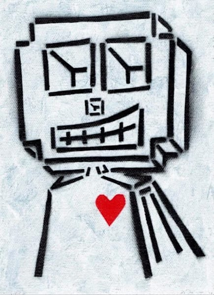 White Love Robot