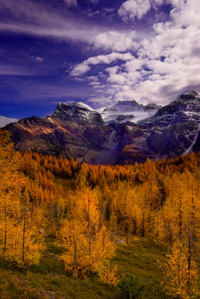 A much sought out day hike - The Larch Valley in Banff National Park. The Canadian Rockies  Rocky Mountains 