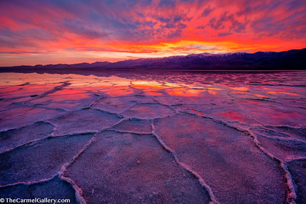 Badwater Sunset Art | The Carmel Gallery