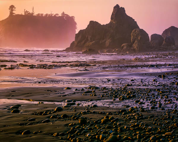 Ruby Beach Mist in Sunset