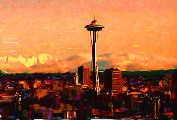 Seattle In The Clouds 3 Art | Carla Dreams