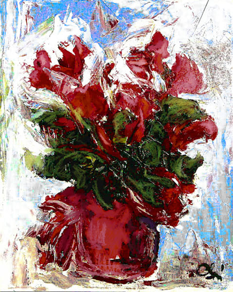 Redin Red Flowers Art | Carla Dreams