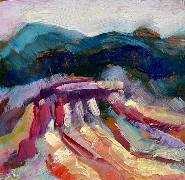 """Striking """"Where Your Glory Dwells 134 Death Valley Butte"""" oil painting  by Monique Sarkessian."""