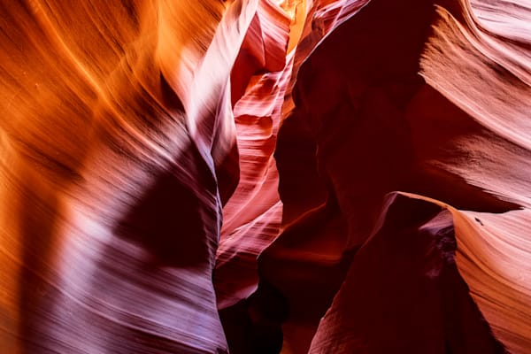 Photograph of the inside of Upper Antelope Canyon
