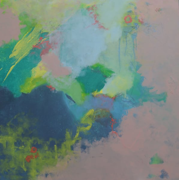 Sometimes Truth Is SImple is an original oil and cold wax abstract painting by artist Mark Witzling