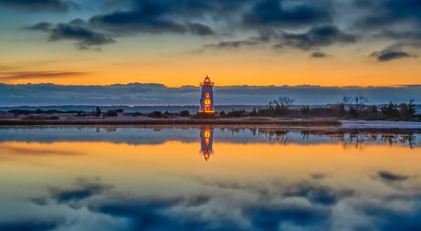 Edgartown Light Christmas Cloud Reflections Art | Michael Blanchard Inspirational Photography - Crossroads Gallery