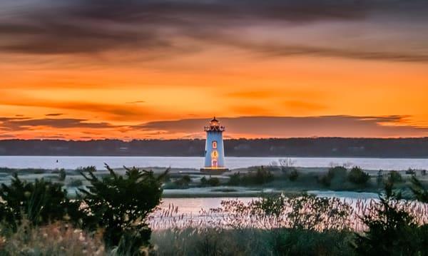 Edgartown Light Christmas Pastel Sunrise