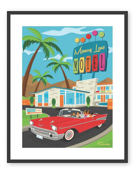 Trip Down Memory Lane Custom 24x32 Framed & Matted Print