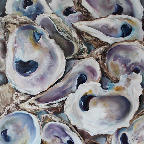 Oyster Shells Canvas and Fine Art Paper Prints by Kristine Kainer