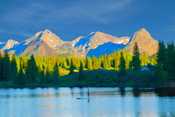 Landscape digital art from photographs of the San Juan Mountains for sale as prints by Maureen Wilks