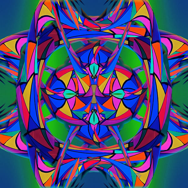 Meow Geometry, print of photograph of a abstract form at Meow Wolf for sale as digital art by Maureen Wilks