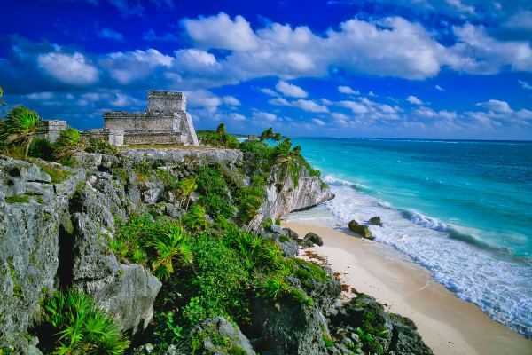 Mayan Ruin Of Tulum On Caribbean Sea, Mexivo Photography Art | ePictureGallery