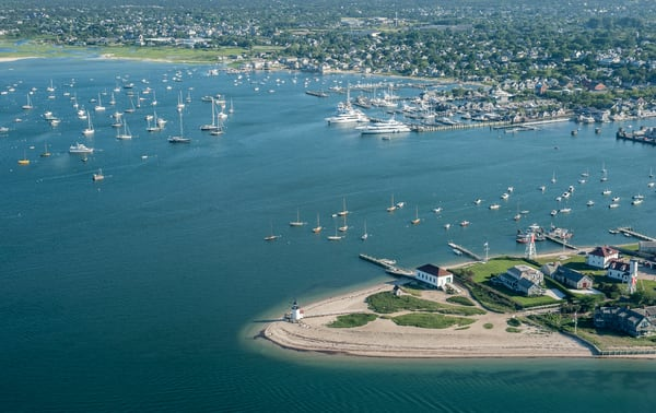 Above Nantucket Harbor Photography Art | Kit Noble Photography