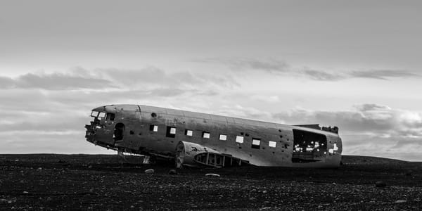Plane Wreck Iceland Photography Art | Kit Noble Photography