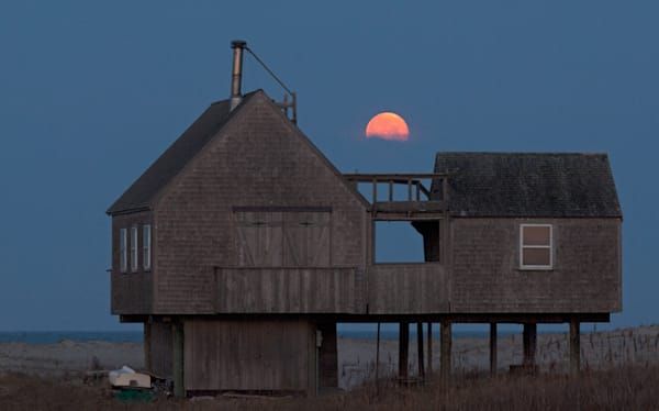 Stilt House Moonset Photography Art | Kit Noble Photography