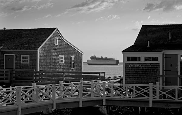 Steamship Between Cottages Photography Art | Kit Noble Photography