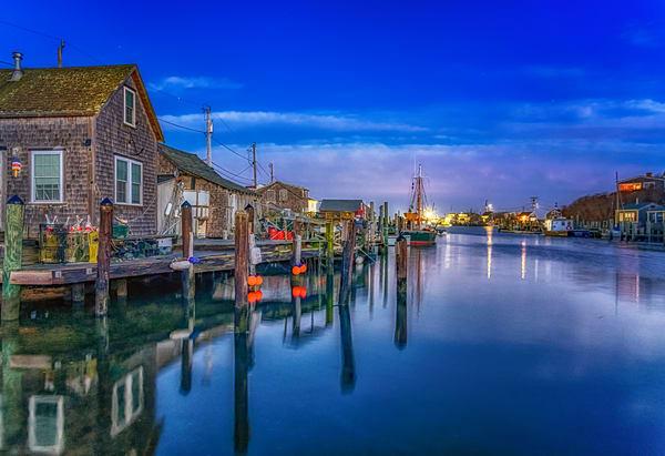 Menemsha Harbor Winter Dawn