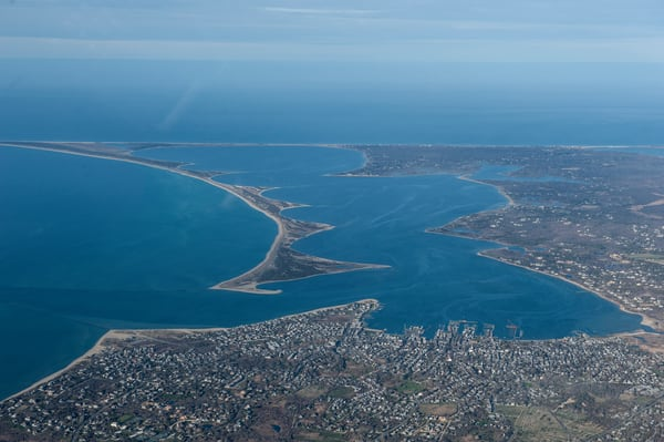 Nantucket Town Aerial #2 Photography Art | Kit Noble Photography