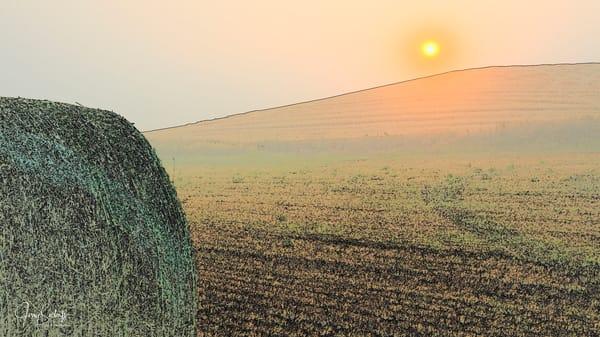 Sunset Hay Bale 7428
