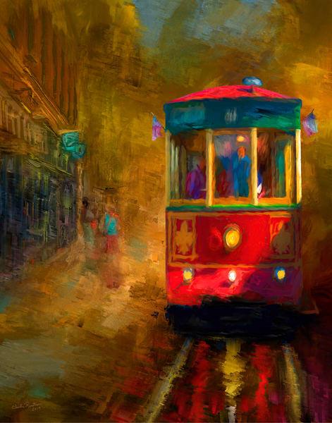 Astoria Trolley Car Art | chuckrenstrom.com
