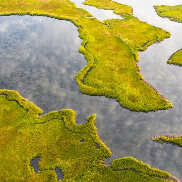 Folger's Marsh Aerial 1 (Square) Photography Art | Kit Noble Photography