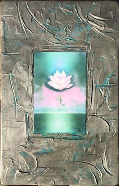 "Turquoise Moon 11x18""   Big Vision Art + Design"