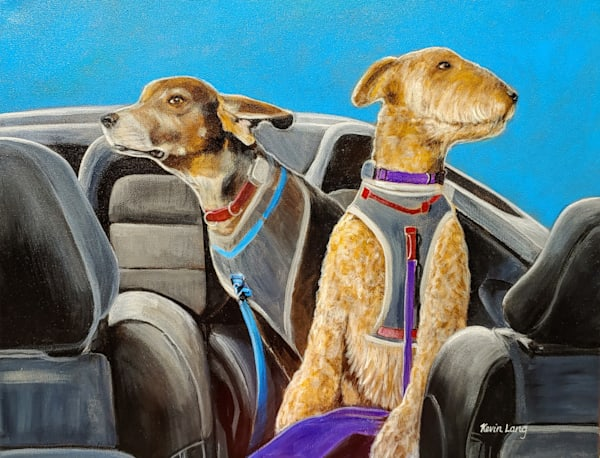 Cruisin' With Tucker And Talbot | Kevin Lang Fine Art