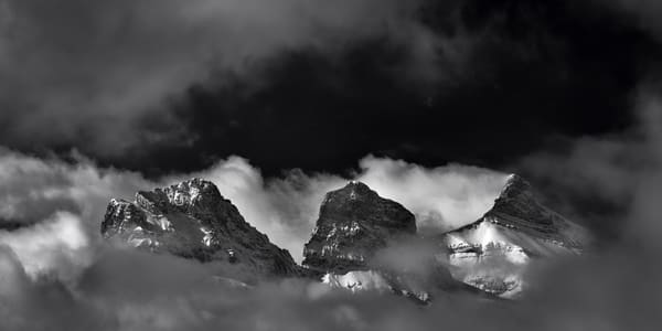 Three Sisters are an icon of the Bow Valley. Banff National Park|Canadian Rockies|Rocky Mountains|