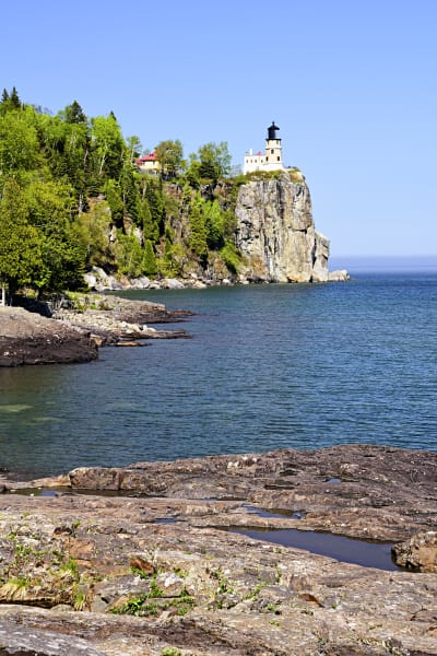 Split Rock Lighthouse on a sunny day