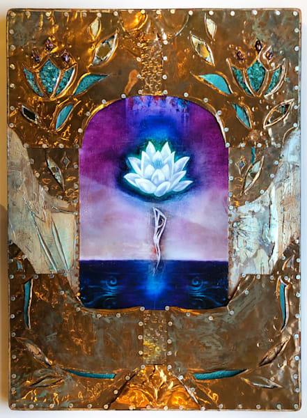 "Starlight Lotus, 18x24"" | Big Vision Art + Design"