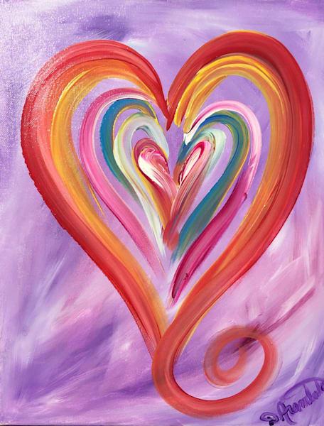 Jazzy Purple  Art | Heartworks Studio Inc