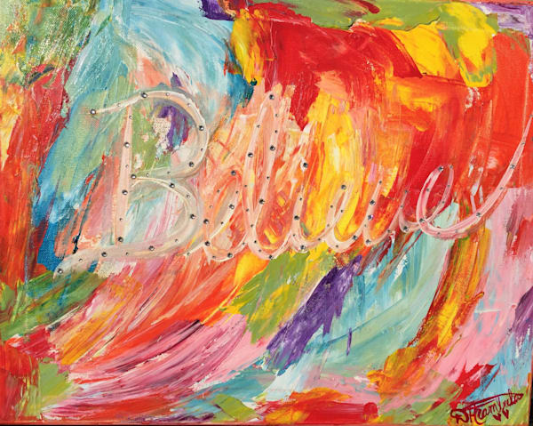 Believe Abstract  Art   Heartworks Studio Inc