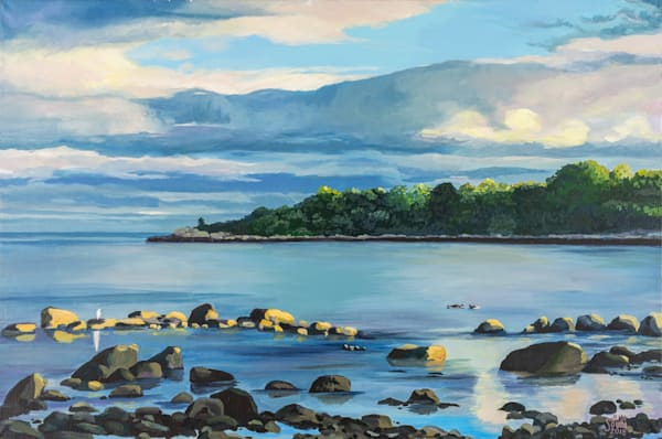 View from Stacy Boulevard-24x36