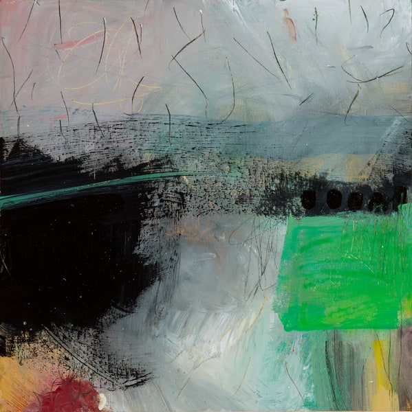 Abstract With Green Art | Debbie Dicker - Art