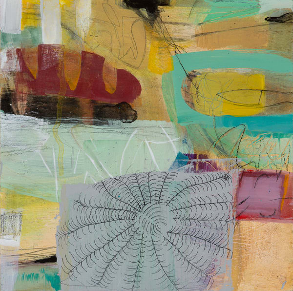 Abstract With Coral  Art | Debbie Dicker - Art