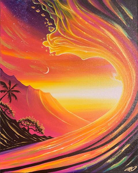 Maui Heart Wave Art   evoartmaui