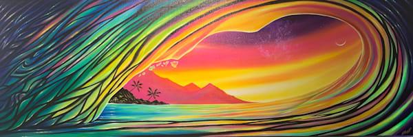 Hawaii Rainbow Wave Art   evoartmaui