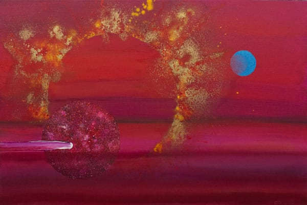 Etic Landscape #3 - Abstract cosmic landscape painting by David Copson