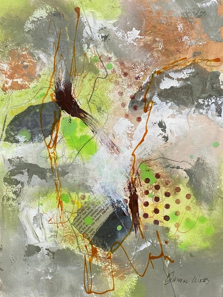August 2 Study #1 is a mixed media abstract painting by Adrienne Watts.