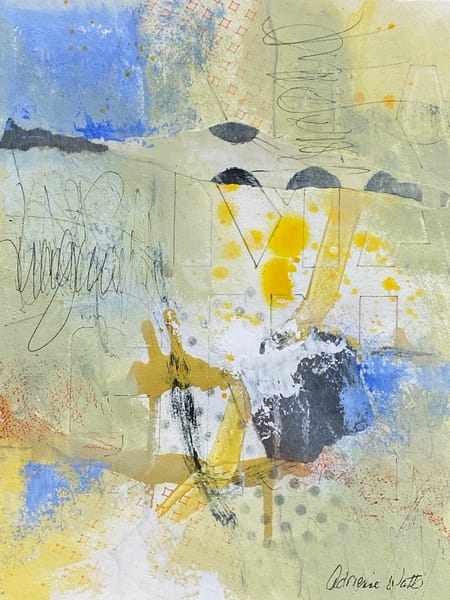Imagine #2 is a mixed media painting on paper by Adrienne Watts.