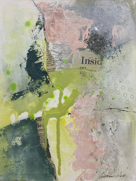 June 5 Study #1 is a mixed media painting by Adrienne Watts.